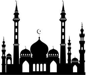 Silhouette vector free download. Mosque clipart