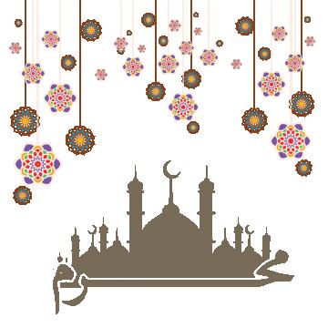 Mosque clipart abstract. Arabic vector design eid