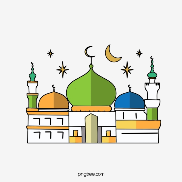 Ramadan elements islam islamic. Mosque clipart cartoon