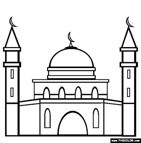 Mosque clipart easy draw. Drawing for kids at