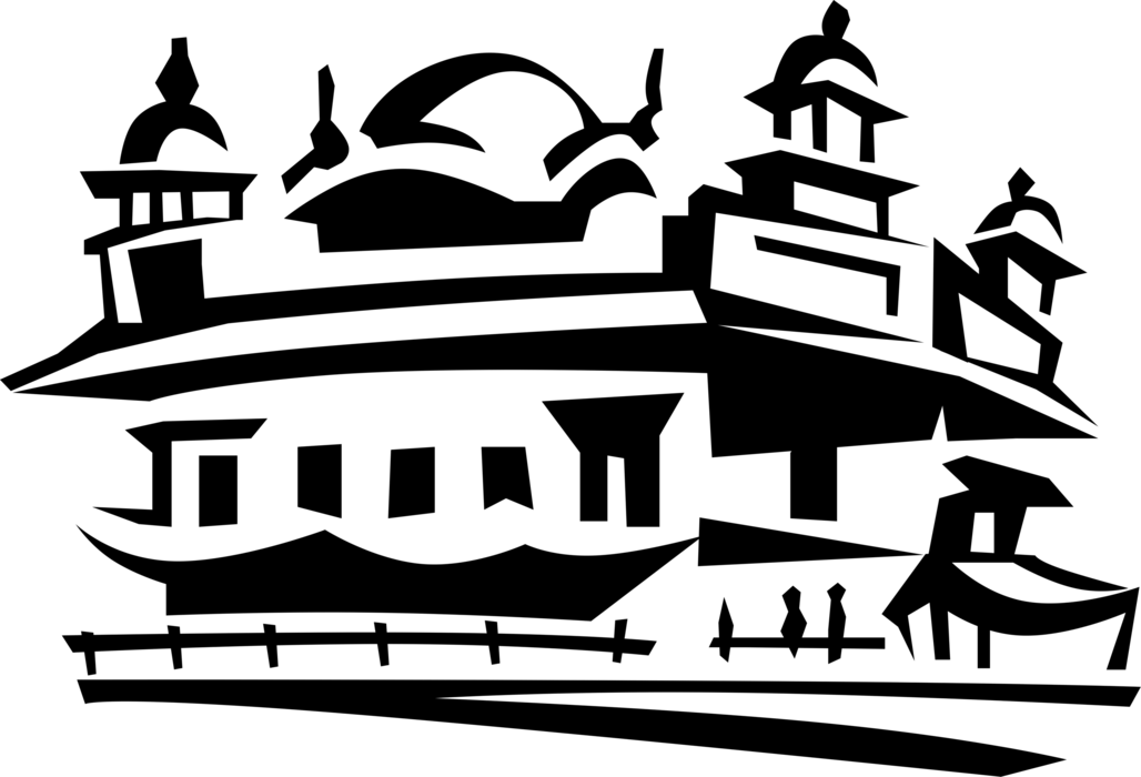 Golden temple of amritsar. Mosque clipart extended family