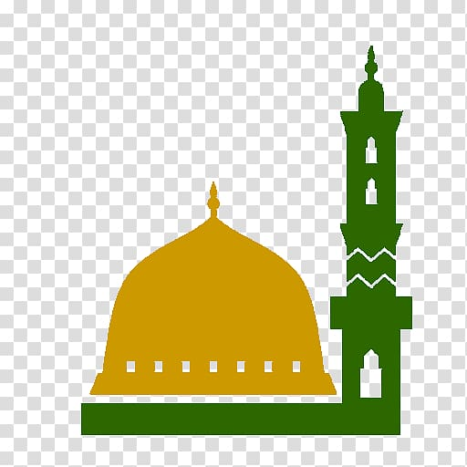 Man hanging on crescent. Mosque clipart extended family