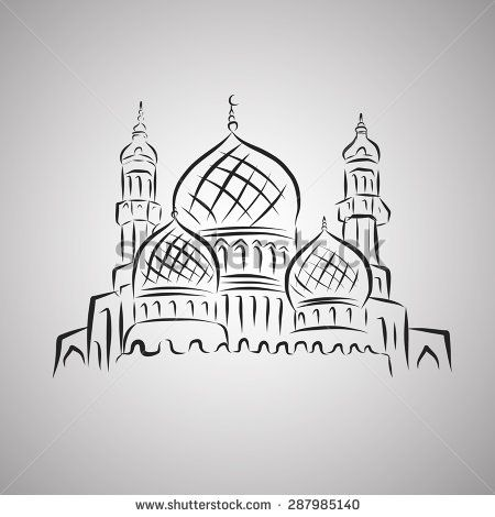Vector of stock . Mosque clipart illustration