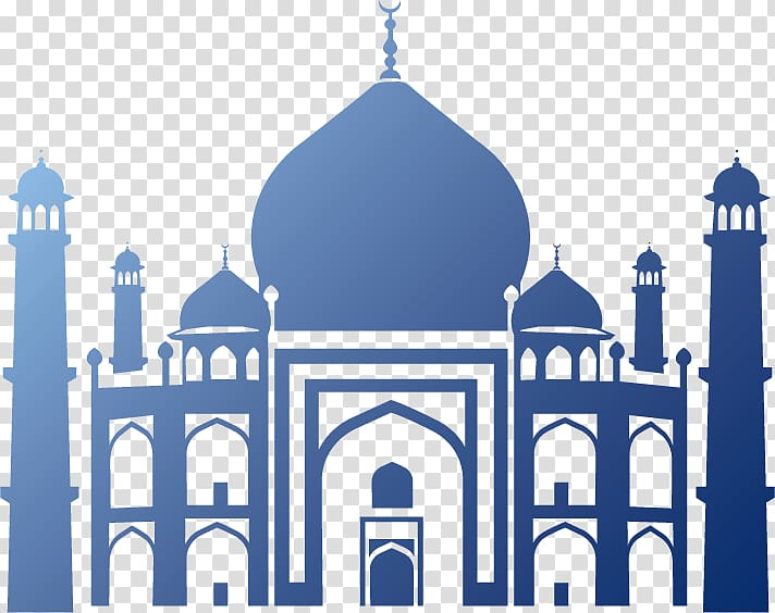 Halal islamic architecture silhouette. Mosque clipart illustration