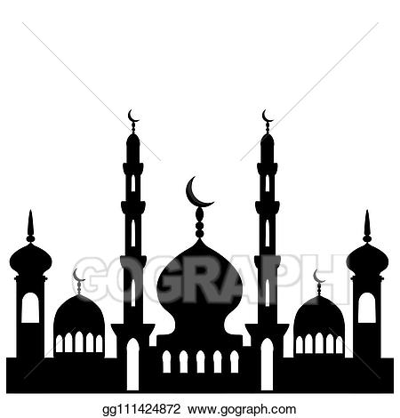 Mosque clipart illustration. Vector stock on theme