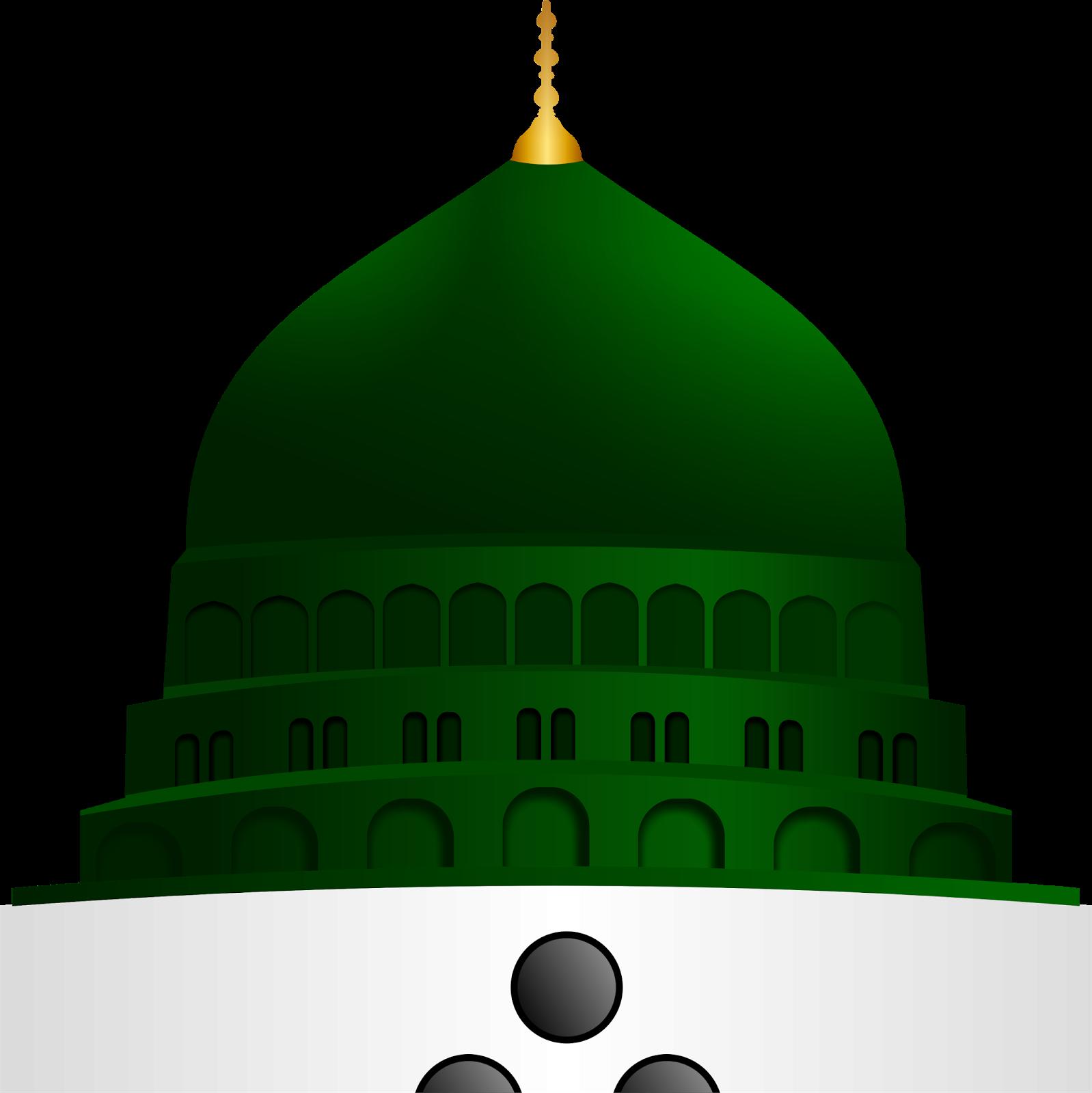 Gumbad e khizra vector. Mosque clipart madina mosque