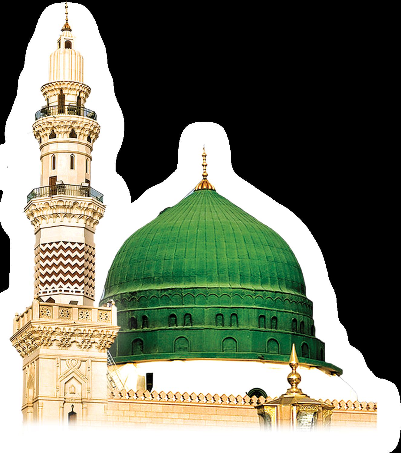 Gumbad e khizra png. Mosque clipart madina mosque