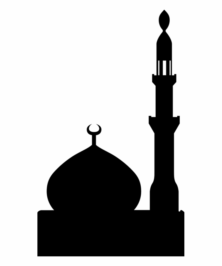 Mosque clipart masjed. Masjid png black clip