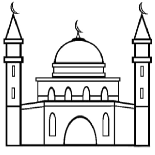 Mosque clipart masjed. Coloring masjid mobile com