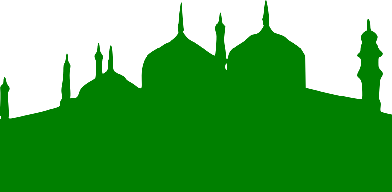 Mosque clipart masjed. Green medium image png