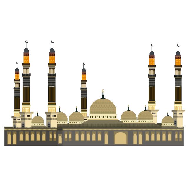 Masjid muslim prayer png. Mosque clipart masjed