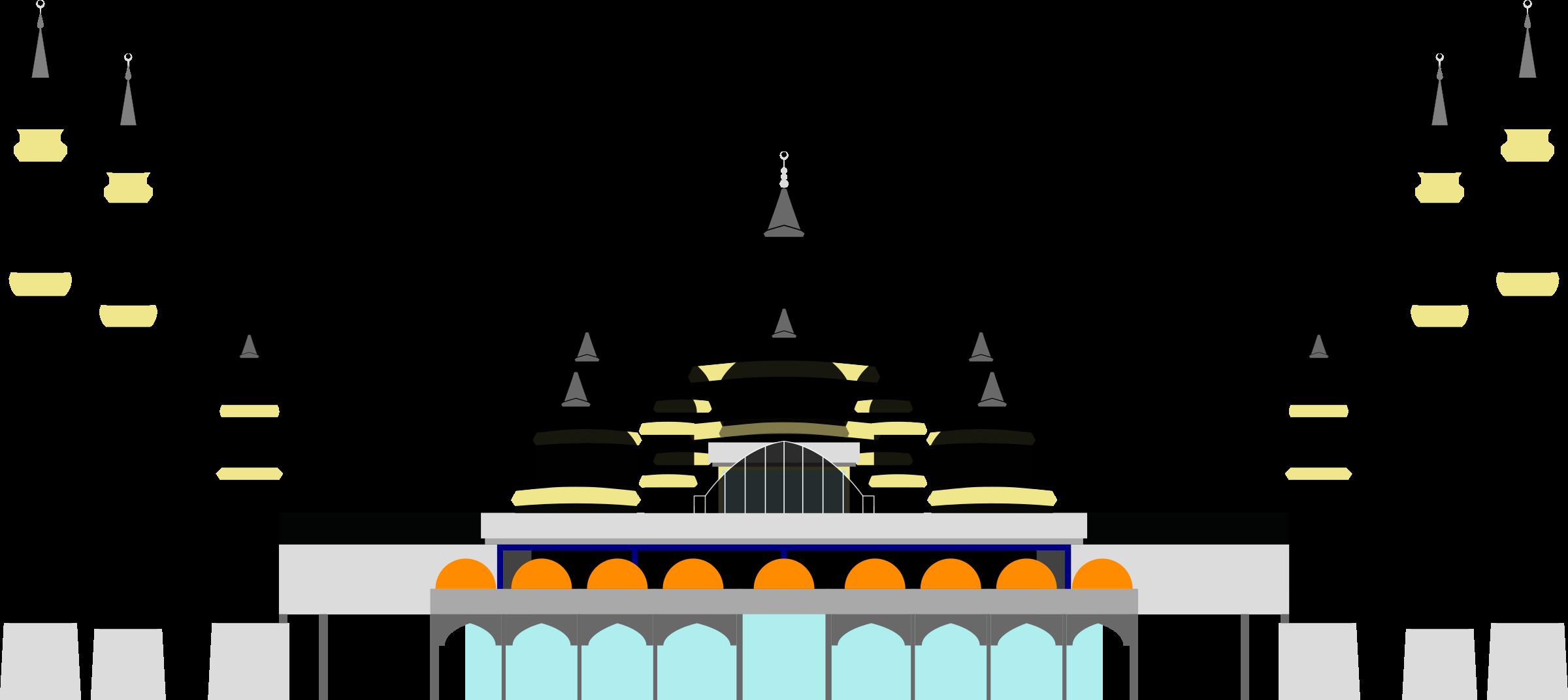 Masjid kristal crystal kuala. Mosque clipart masjed
