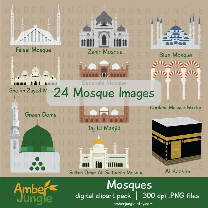 Mosque clipart masjed. Islam muslim masjid clip