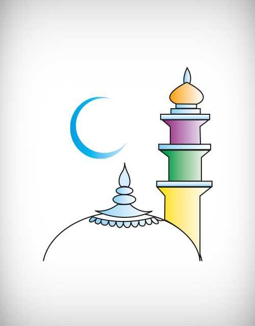 Mosque clipart minar. Islam islamic vector ramadan