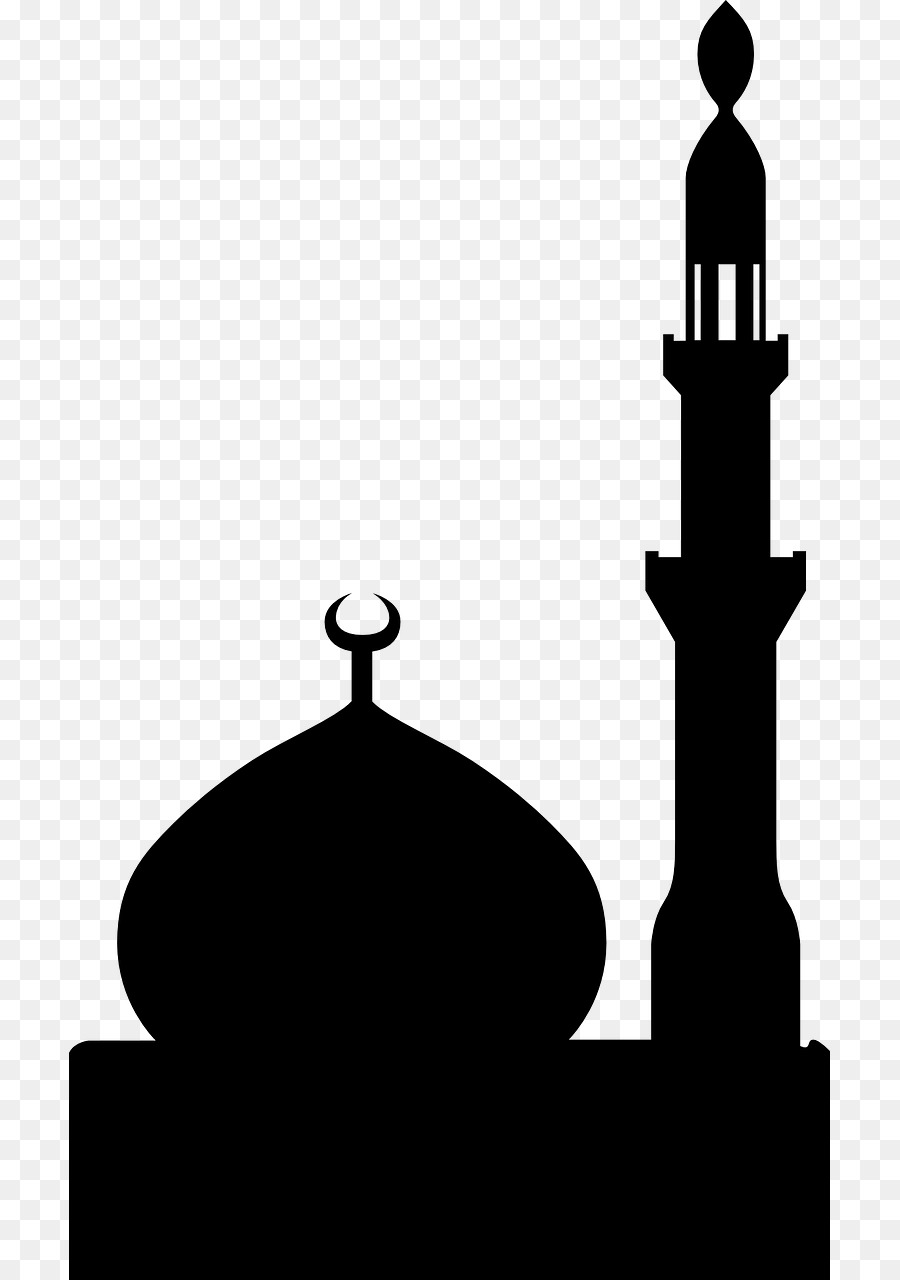 Mosque clipart mosk. Silhouette