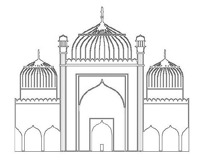 Free cliparts download clip. Mosque clipart outline