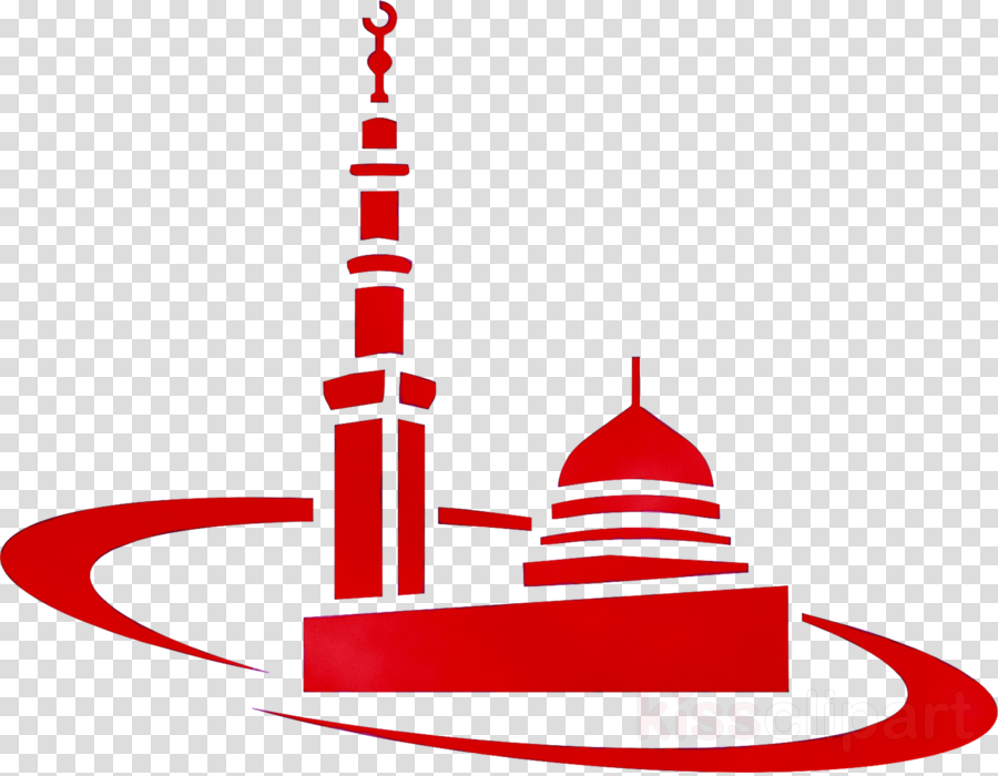 Background line graphics transparent. Mosque clipart red