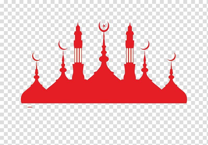 Mosque clipart red. Silhouette islam islamic buddhist