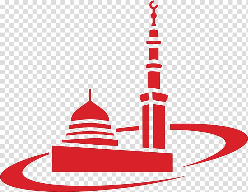 Mosque clipart red. Illustration al masjid an