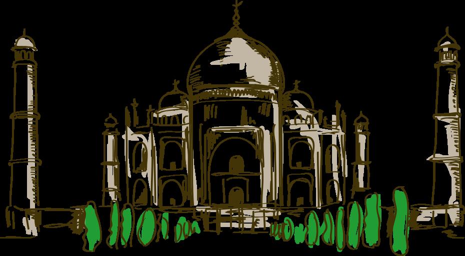 Cartoon drawing at getdrawings. Palace clipart silhouette taj mahal