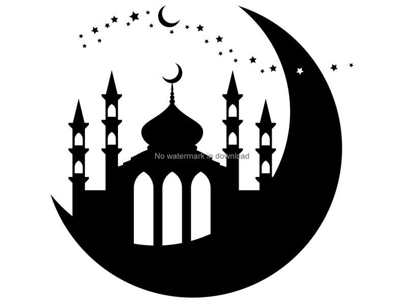 Mosque clipart svg. Image file cut dxf