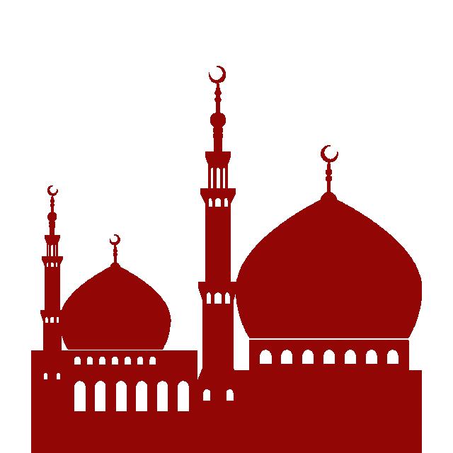 Mosque clipart vektor. Beautiful masjid vector background