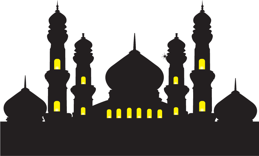 Mosque clipart vektor. Ramadan islam illustration vector