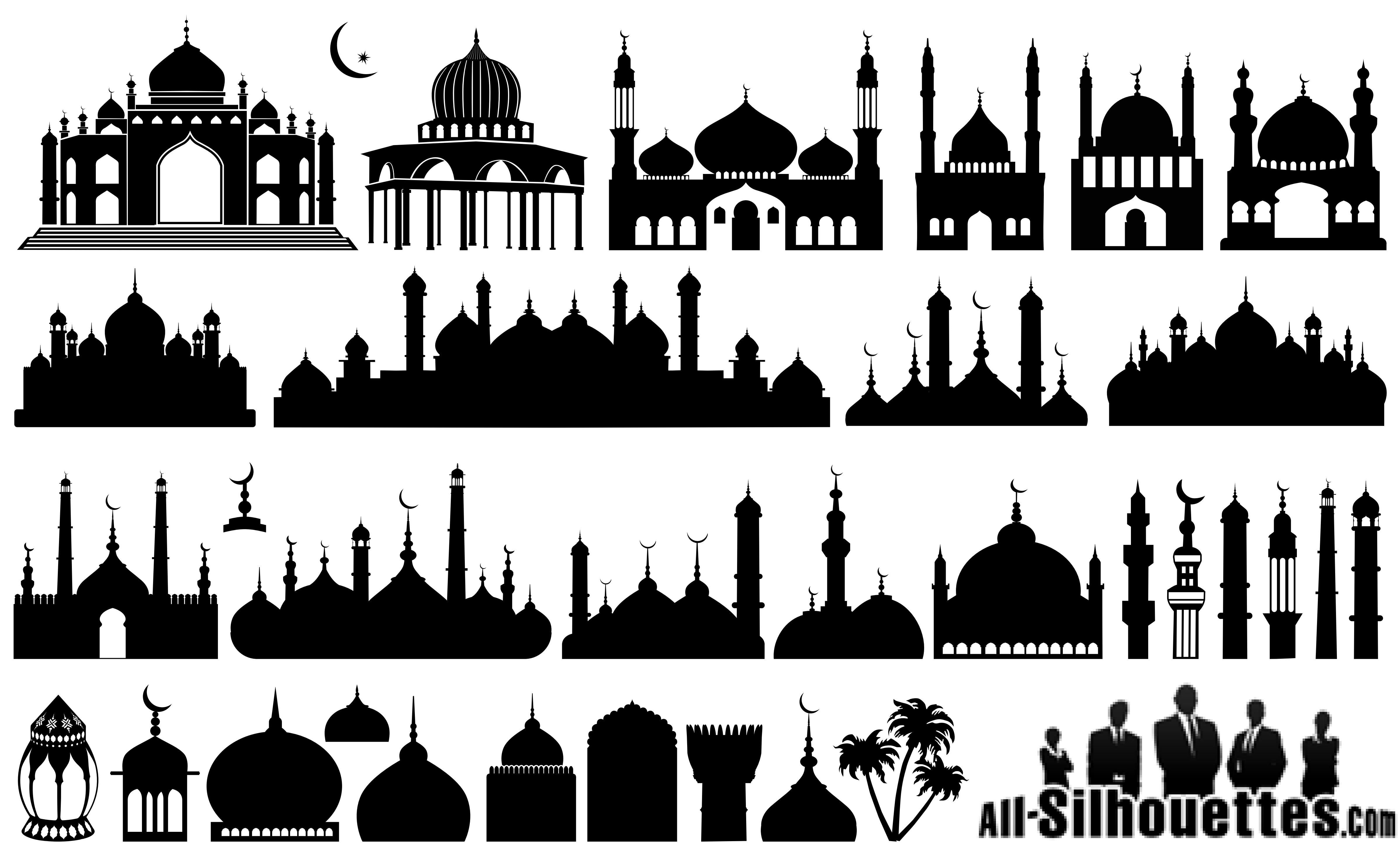 Could have used these. Mosque clipart vektor