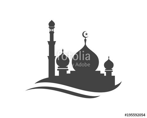 Icon vector illustration stock. Mosque clipart vektor
