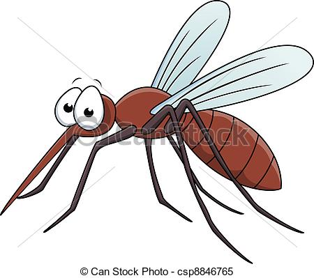 Cartoon . Mosquito clipart