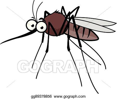 Mosquito clipart. Vector art cartoon drawing