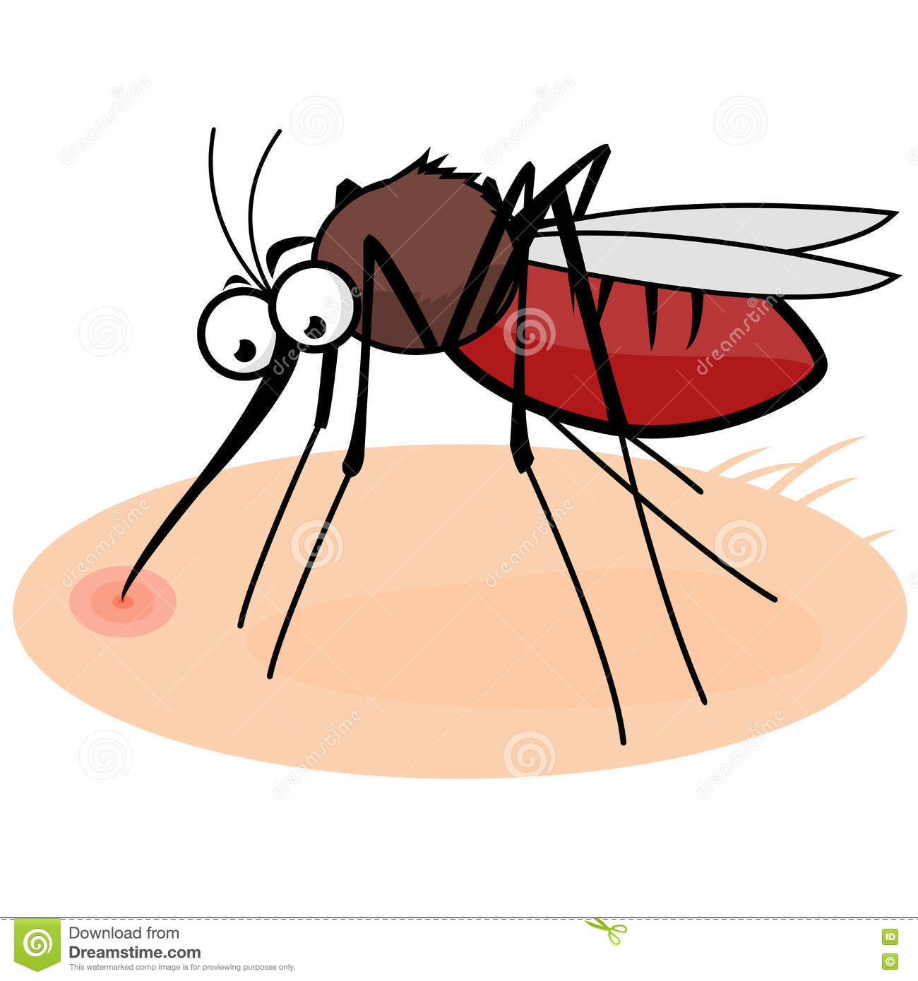 Human pencil and in. Mosquito clipart