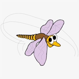 Face wings insect smile. Mosquito clipart happy