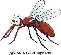 Vector illustration a eps. Mosquito clipart realistic