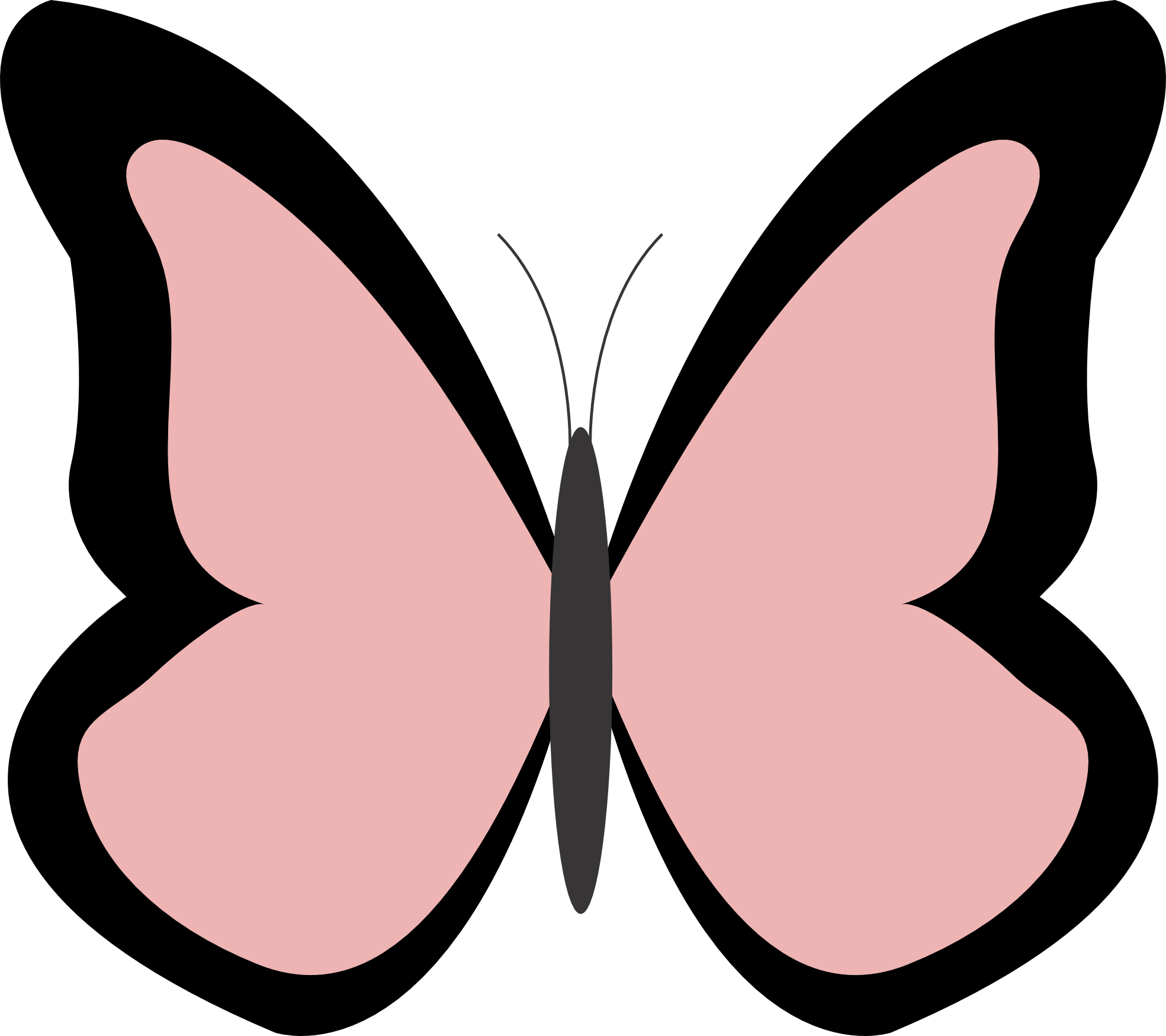 Clipartist net butterfly color. Moth clipart brown pink