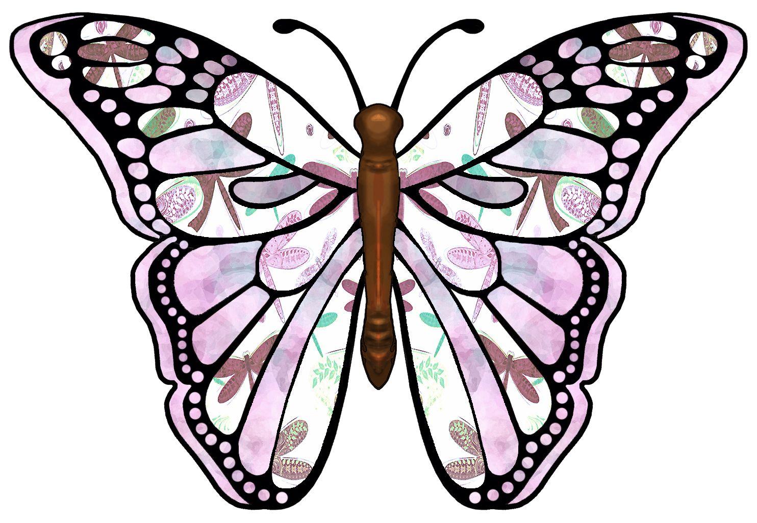 Moth clipart brown pink. Clip art butterflies and