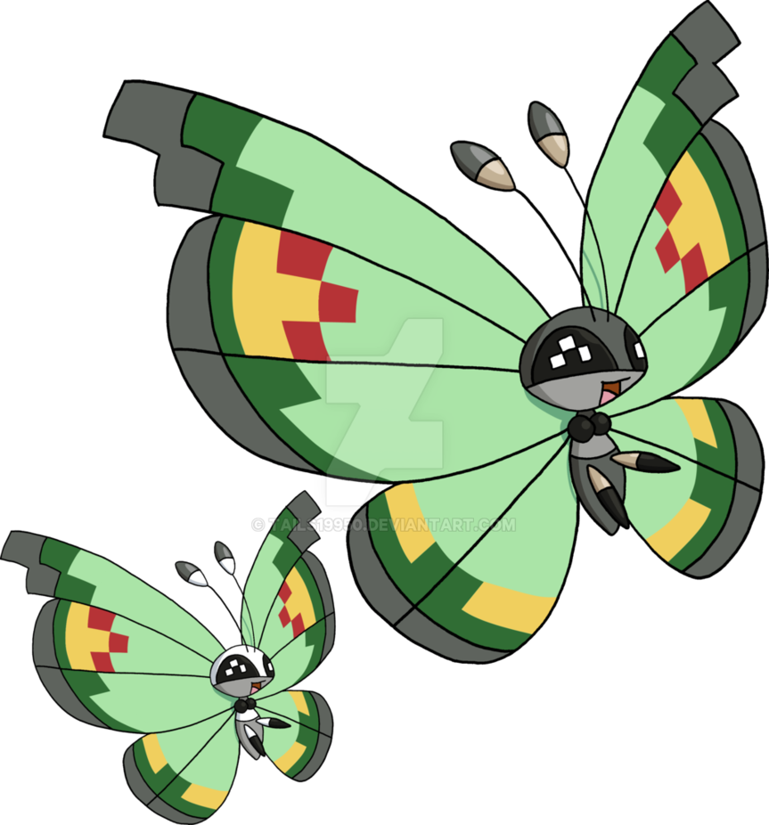 vivillon pattern by. Moth clipart garden