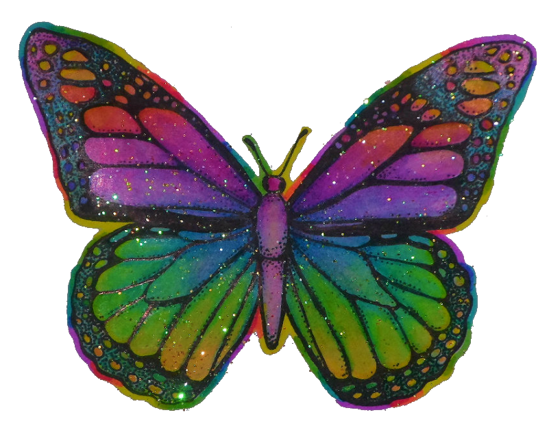 Moth clipart psychedelic. Butterfly hippy trippy tumblr