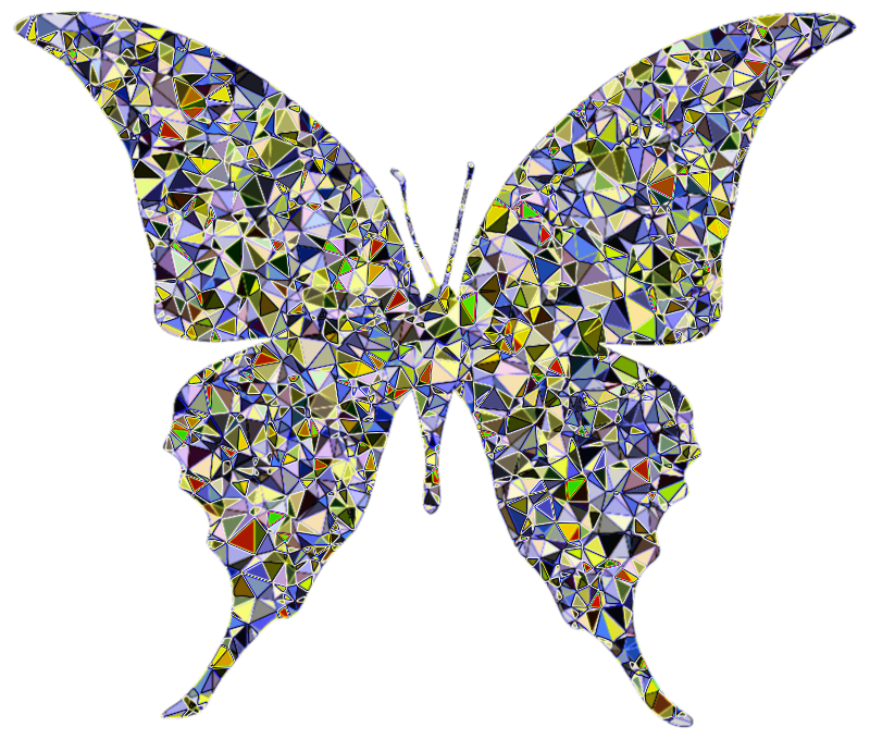 Butterfly silhouette medium image. Moth clipart psychedelic