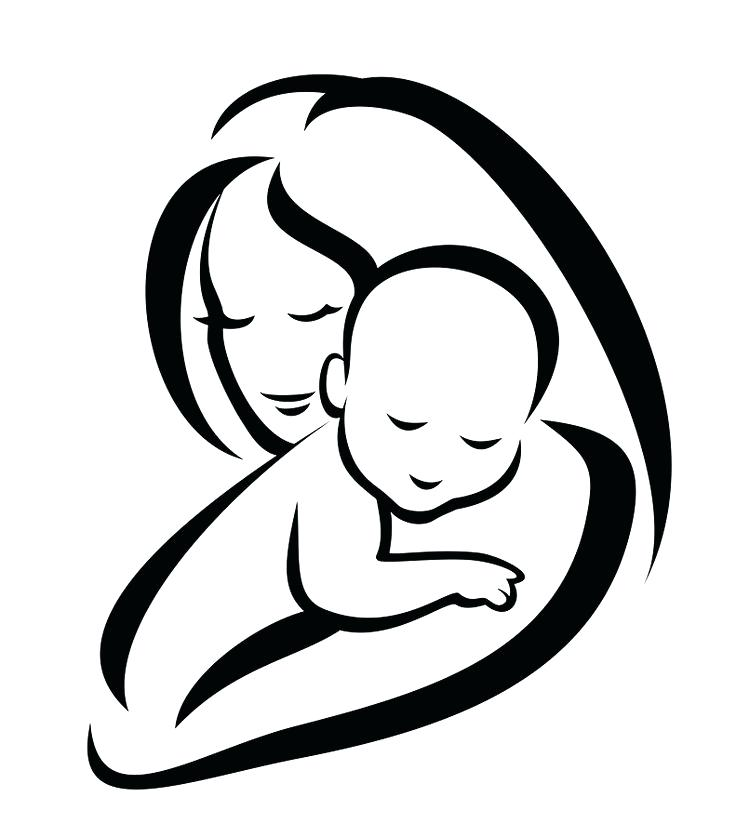 Mother clipart. And child alternative design