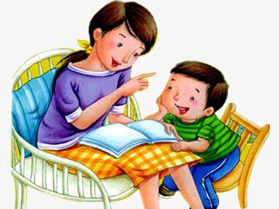 Storytelling mom son png. Mother clipart