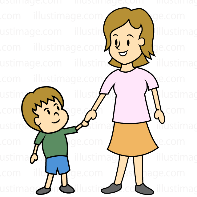 Free child and image. Mother clipart