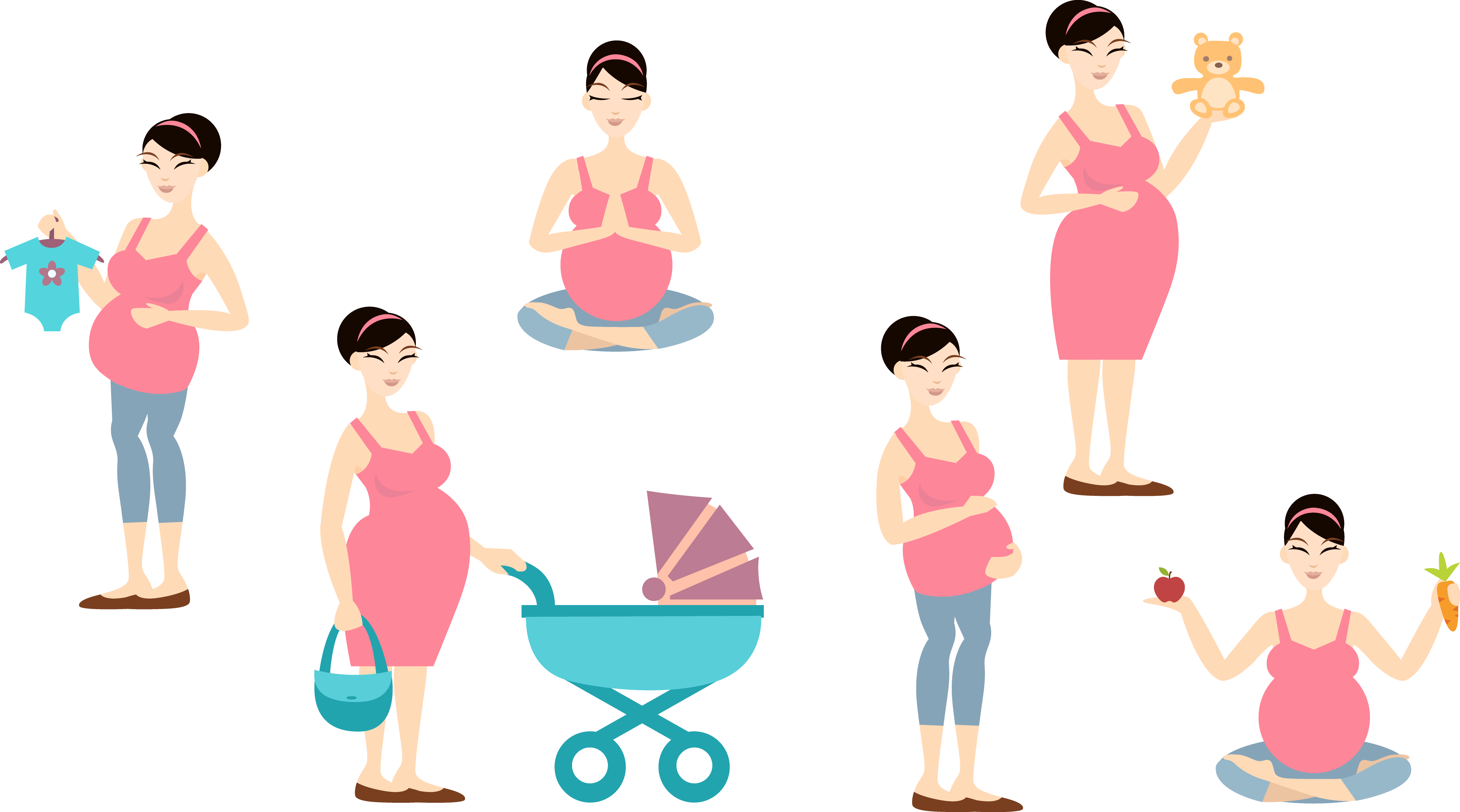 Mother clipart child free. Woman clip art pregnant