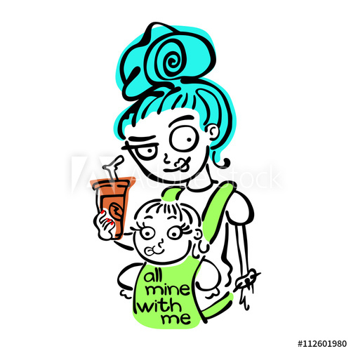 Young and baby in. Mother clipart cool mom