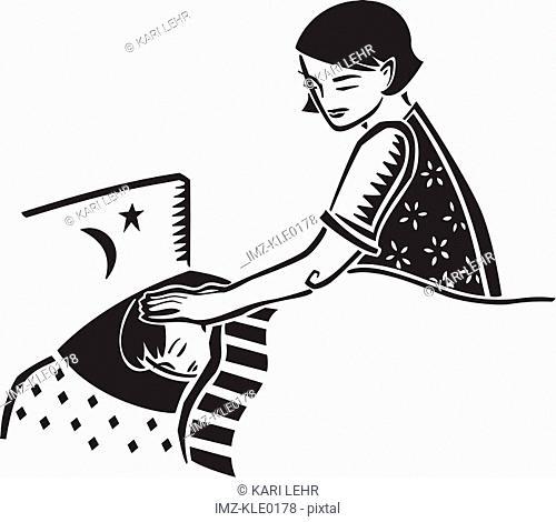 Mother clipart good night. Illustration goodnight stock photos