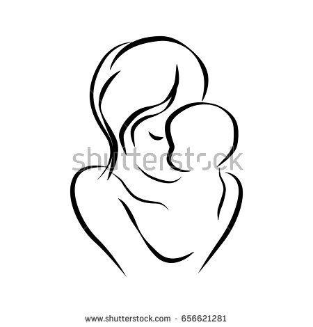 Mother clipart mather. Family and baby all