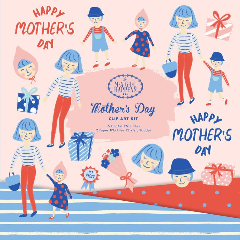 Mother clipart mommy and me. S day mom kids