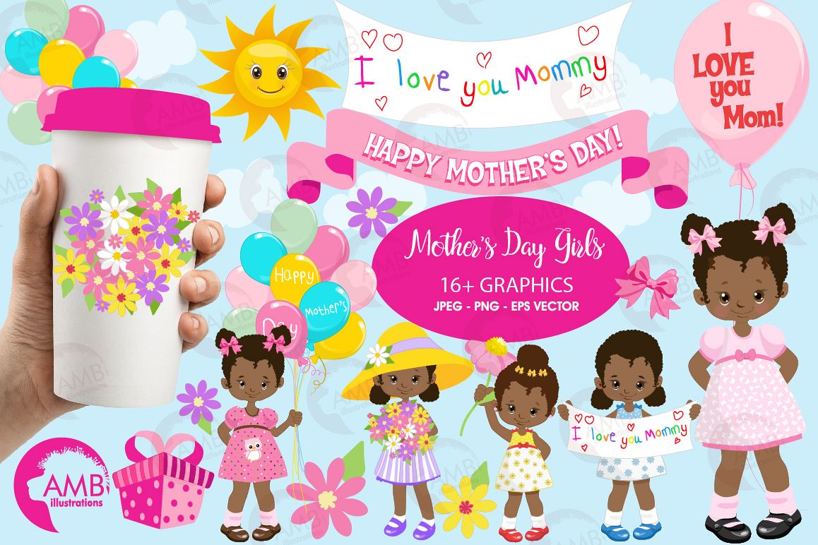 Mothers day kids african. Mother clipart mothe