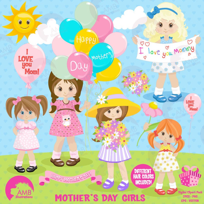 Mothers day kids mom. Mother clipart mothe