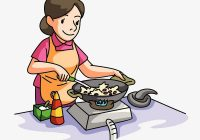 Mother clipart mother cooks food. Download free png cooking